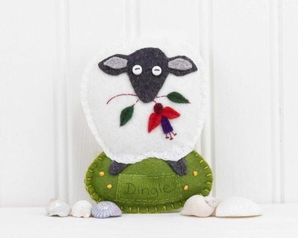 Personalised Irish Sheep Felt Ornament - IMG 3288 scaled