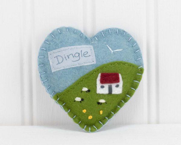 Personalised Irish Cottage Felt Ornament - IMG 3295 scaled
