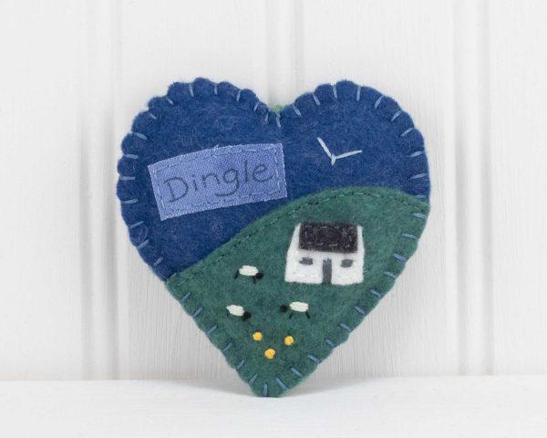 Personalised Irish Cottage Felt Ornament (Blue) - IMG 3296 scaled