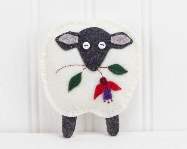 Irish Sheep Felt Ornament - IMG 3297 scaled