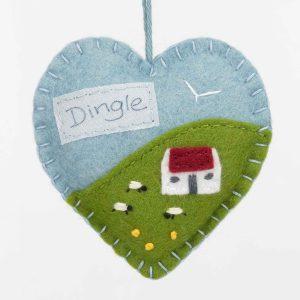 Personalised Irish Cottage Felt Ornament