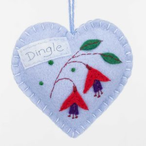 Personalised Irish Fuchsia Felt Ornament