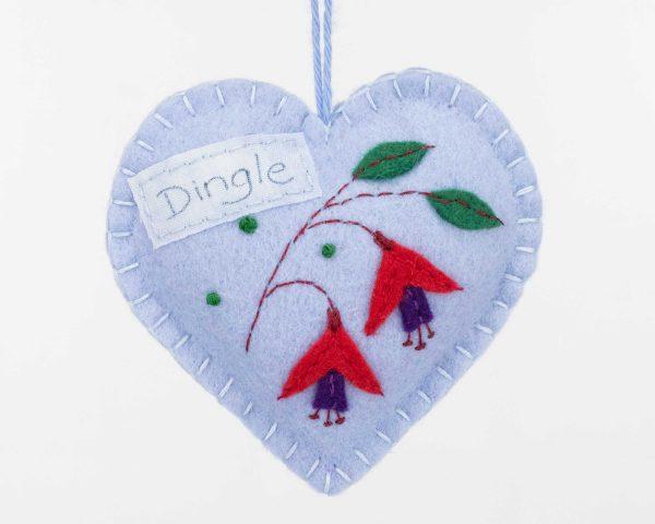 Personalised Irish Fuchsia Felt Ornament