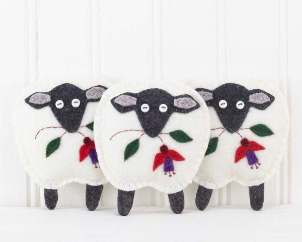 Irish Sheep Felt Ornament - IMG 3460 scaled