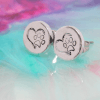Heart And Pawprint Earrings