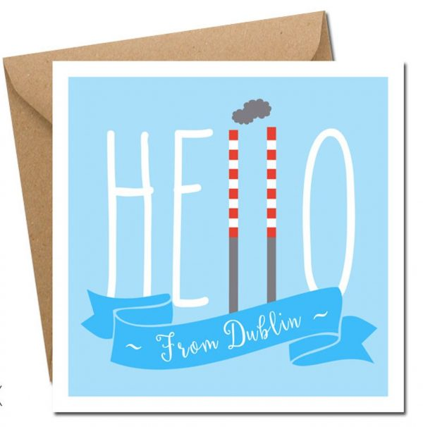 hello from dublin greeting card