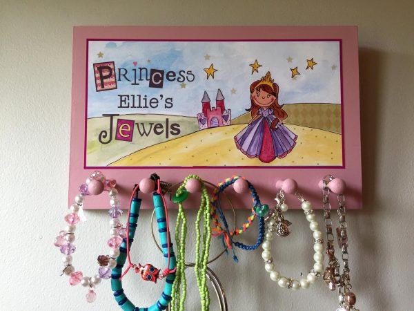 personalised princess jewellery holder