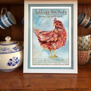 personalised vintage hen party print