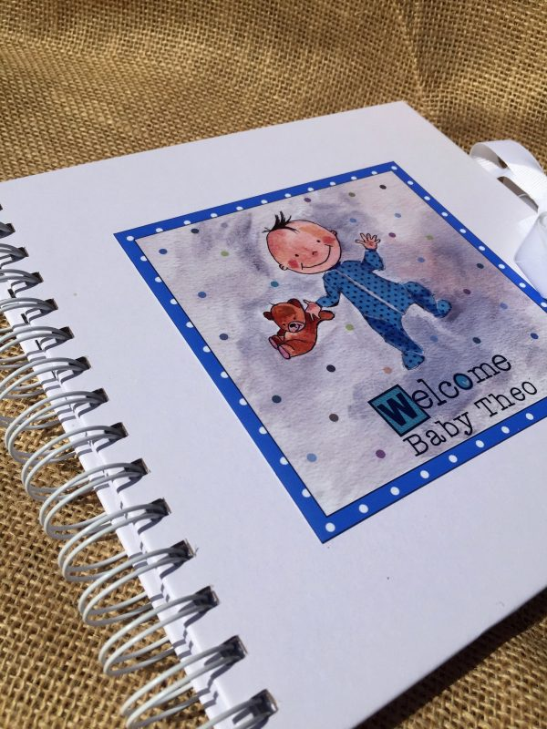 Baby Boy Memory Book - Personalised -