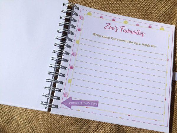 Baby Girl Memory Book - Personalised -