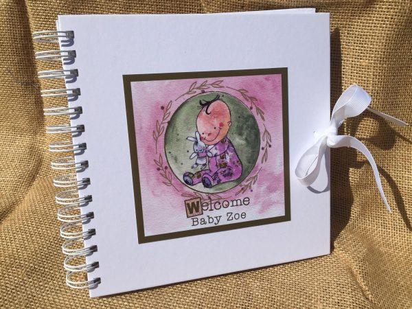 Personalised Baby Girl Memory Book