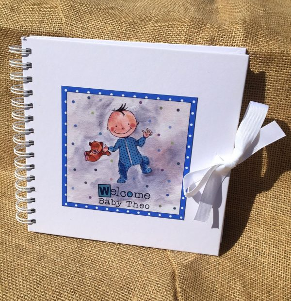 personalised Baby Boy Memory Book