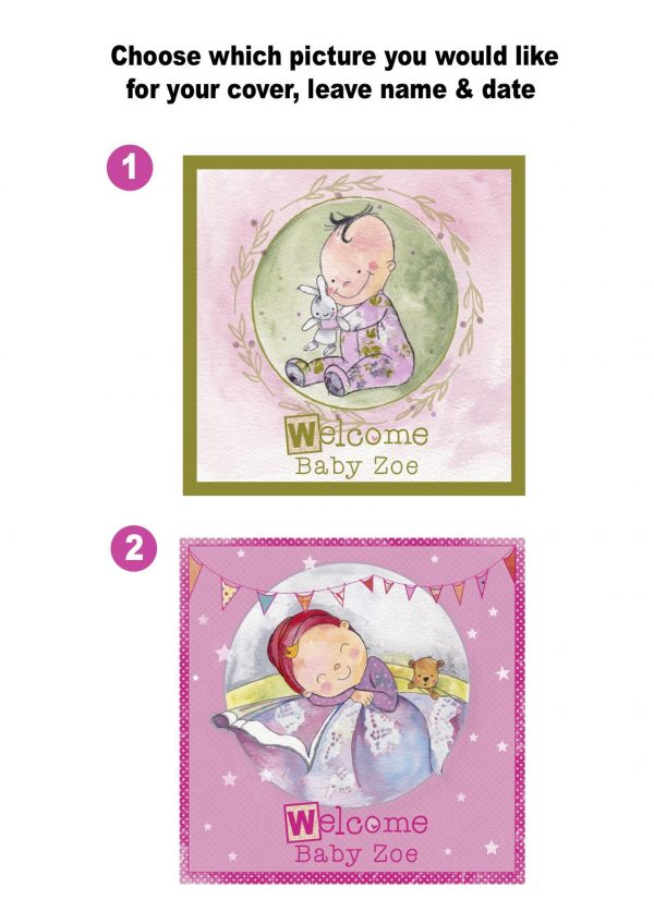 baby girl memory book cover image