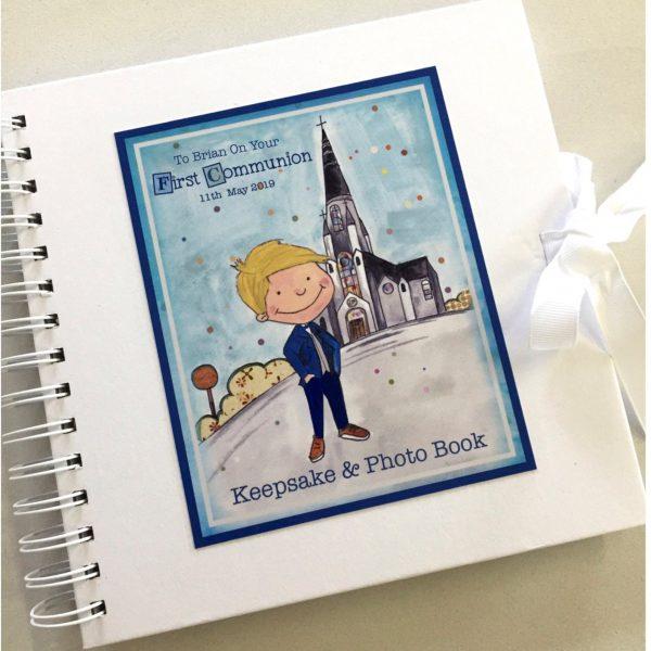 Communion Boy Keepsake Journal