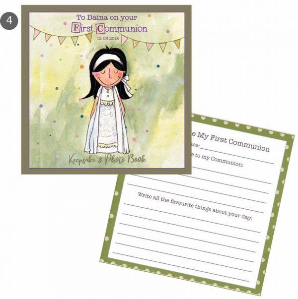 Customised Communion Girl Keepsake Journal -