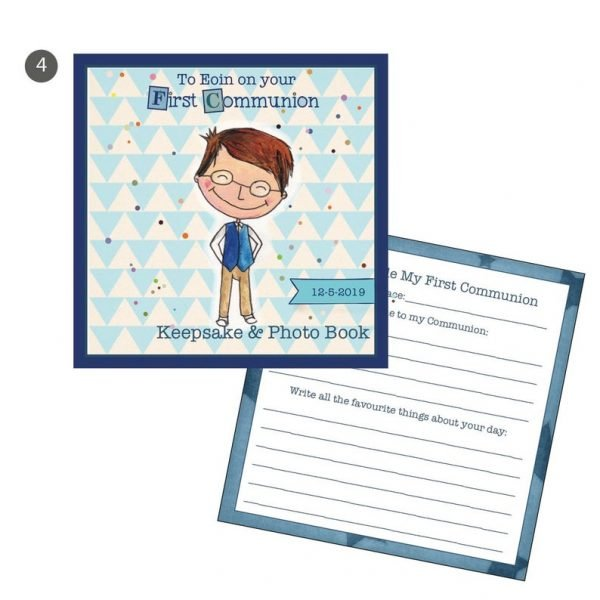 Customised Communion Boy Keepsake Journal -