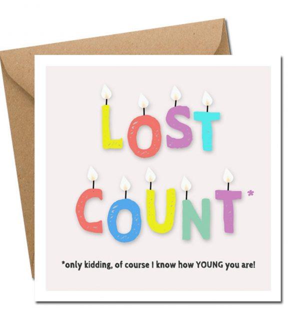 Lost Count birthday card irish designed