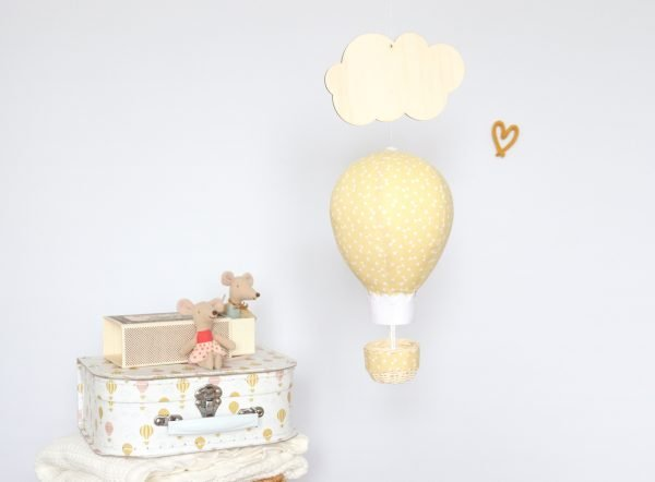 Ochre Balloon Personalised Decoration - ochre room