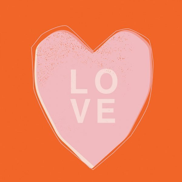 Pink Love Heart Card