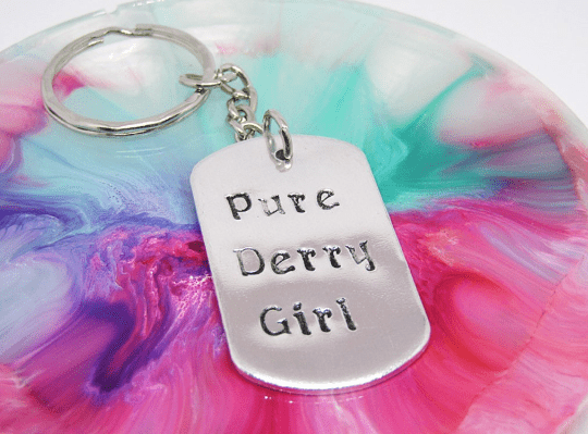 Pure Derry Girl Keyring