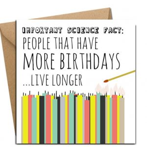 birhtday card science fact irish designed