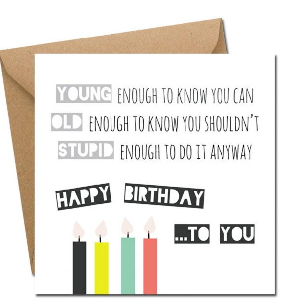 Happy Birthday To You birthday card