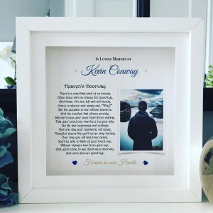 In Memory Of.. personalised frame