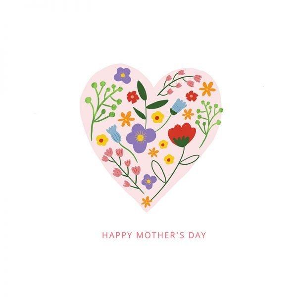 Spring Flowers For Mum - Heart Flowers2
