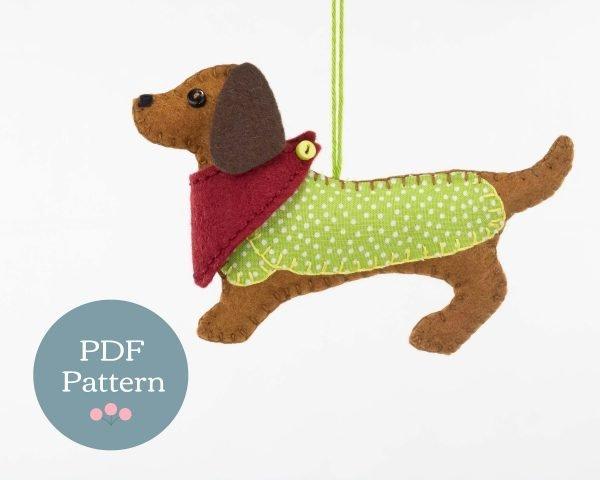 Mitzi the Dachshund PDF Sewing Pattern