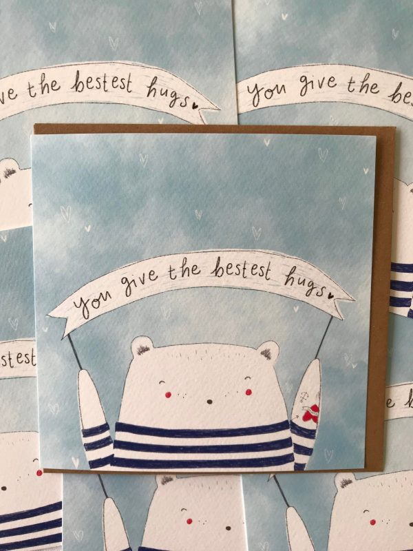 you give the bestest hugs mothers day card