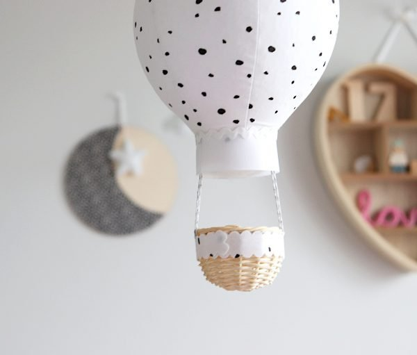 Black and White Dots Balloon Wall Hanging