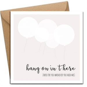 Hang on In There greeting card by lainey k