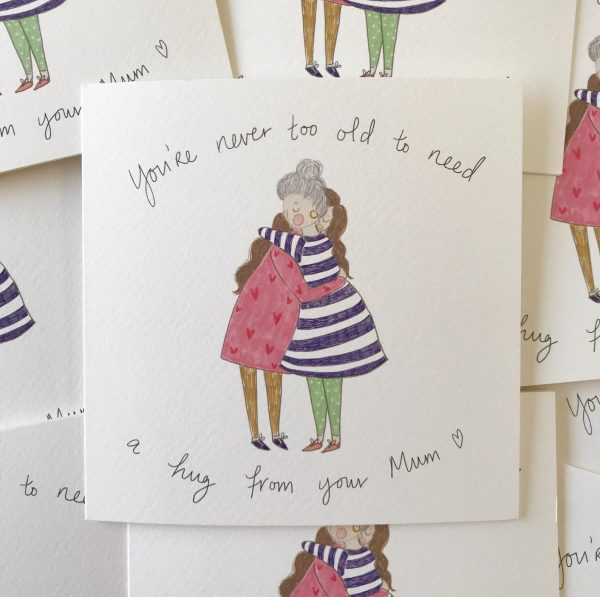 Hug from mum mothers day card