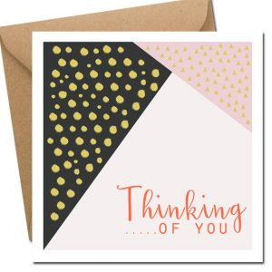 Thinking of you card blank inside lainey k