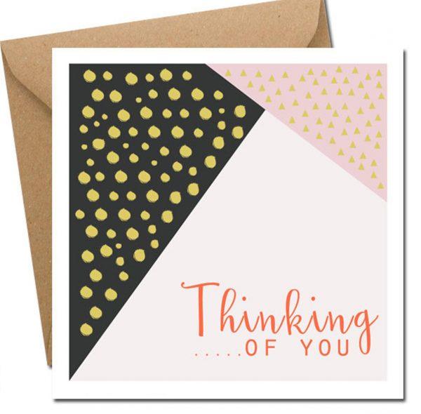 Thinking of you card blank inside lainey k
