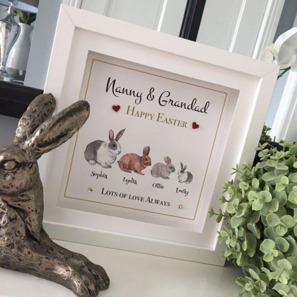 Happy Easter Nanny & Grandad personalised frame