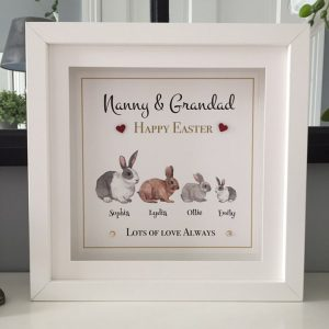 Happy Easter Nanny & Grandad personalised frame