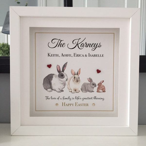 ily Easter Bunnies personalised frame