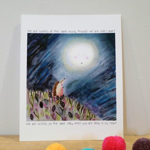 Looking at the Same Moon Archival Print
