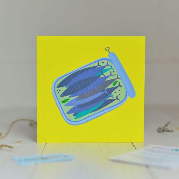 Greeting Card - In a Tight Spot - Sardine Tin