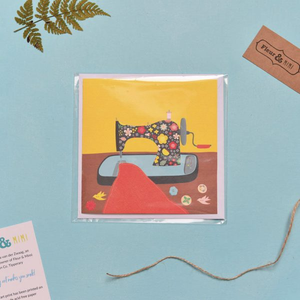 Greeting Card - Sewing Machine - Sewing Machine 1