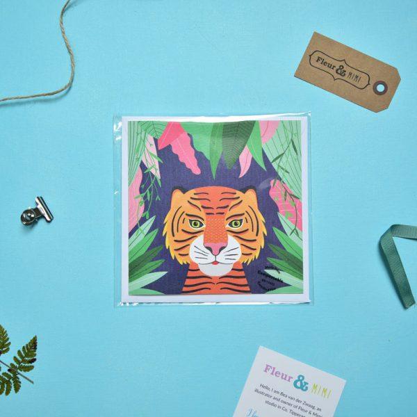 Greeting Card - Tiger - Tiger Face Jungle