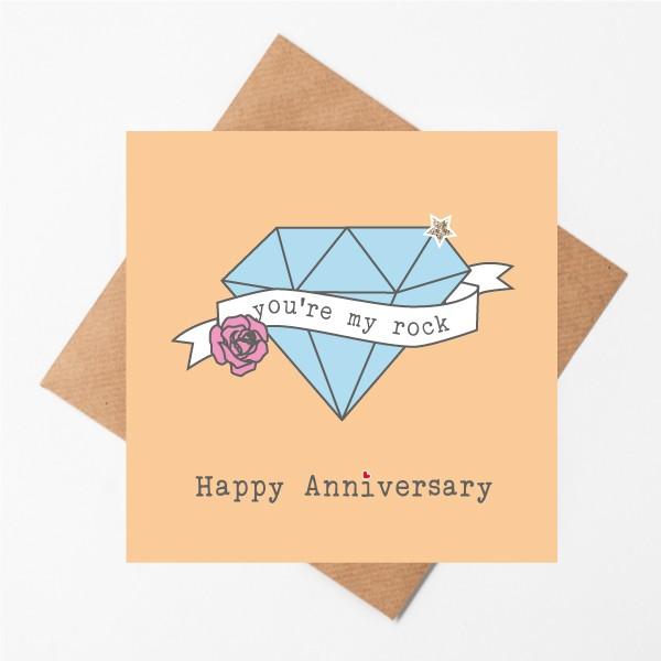 My Rock happy Anniversary card