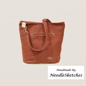 Tweed bucket bag