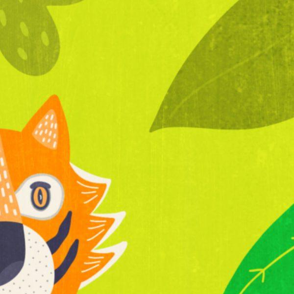 Greeting Card - In the Jungle - closeup inthejungle