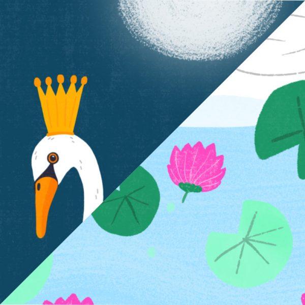 Greeting Card - Swans - closeup swans 1