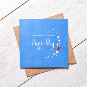 Thank you for being my page boy greeting card