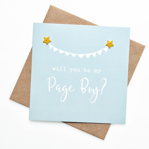 Will you be my page boy? greeting card