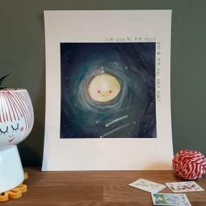 I Love You to the Moon Archival Print