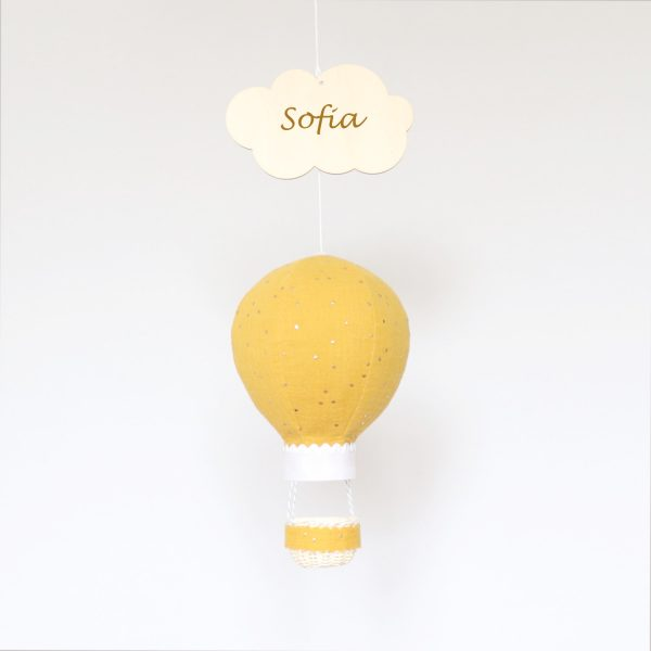 Mustard Muslin Balloon with Gold Dots - mustard sofia